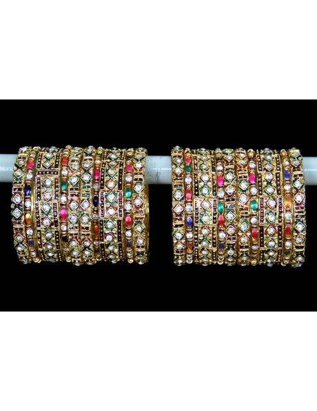 Buy Banles online Desirable Festive Bangles. http://www.bharatplaza.in/jewellery/bangles.html