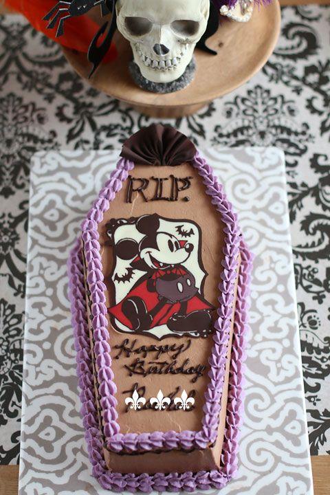 ミッキーの棺ケーキバースデーケーキとハロウィンパーリー! : coupe-feti