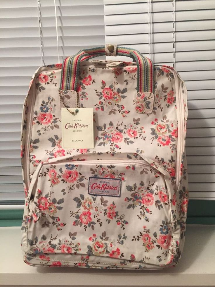 cath kidston backpack bnwt white red pink floral back to. Black Bedroom Furniture Sets. Home Design Ideas
