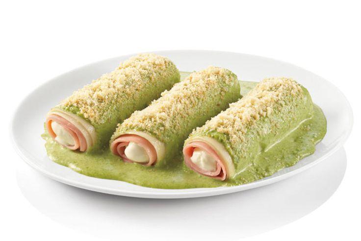 Canelones jamón y queso con salsa de espinacas, ¡a comer! - Recetín