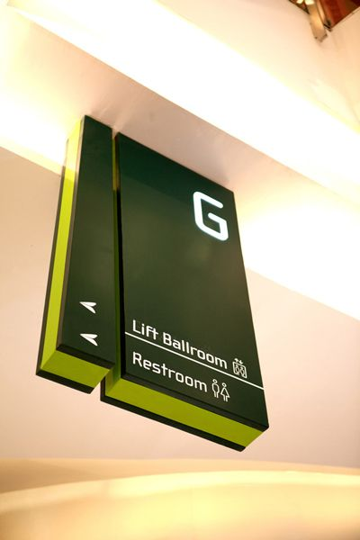Ceiling Hung Directional Signage | Central Park