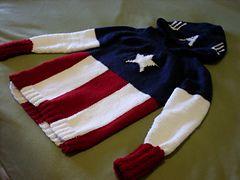 Ravelry: Captain America Knit Hoodie pattern by Beth Kluckhohn