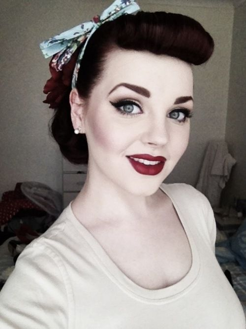 50s style hair and makeup 1000 ideas about 50s makeup on burgundy hair 1200
