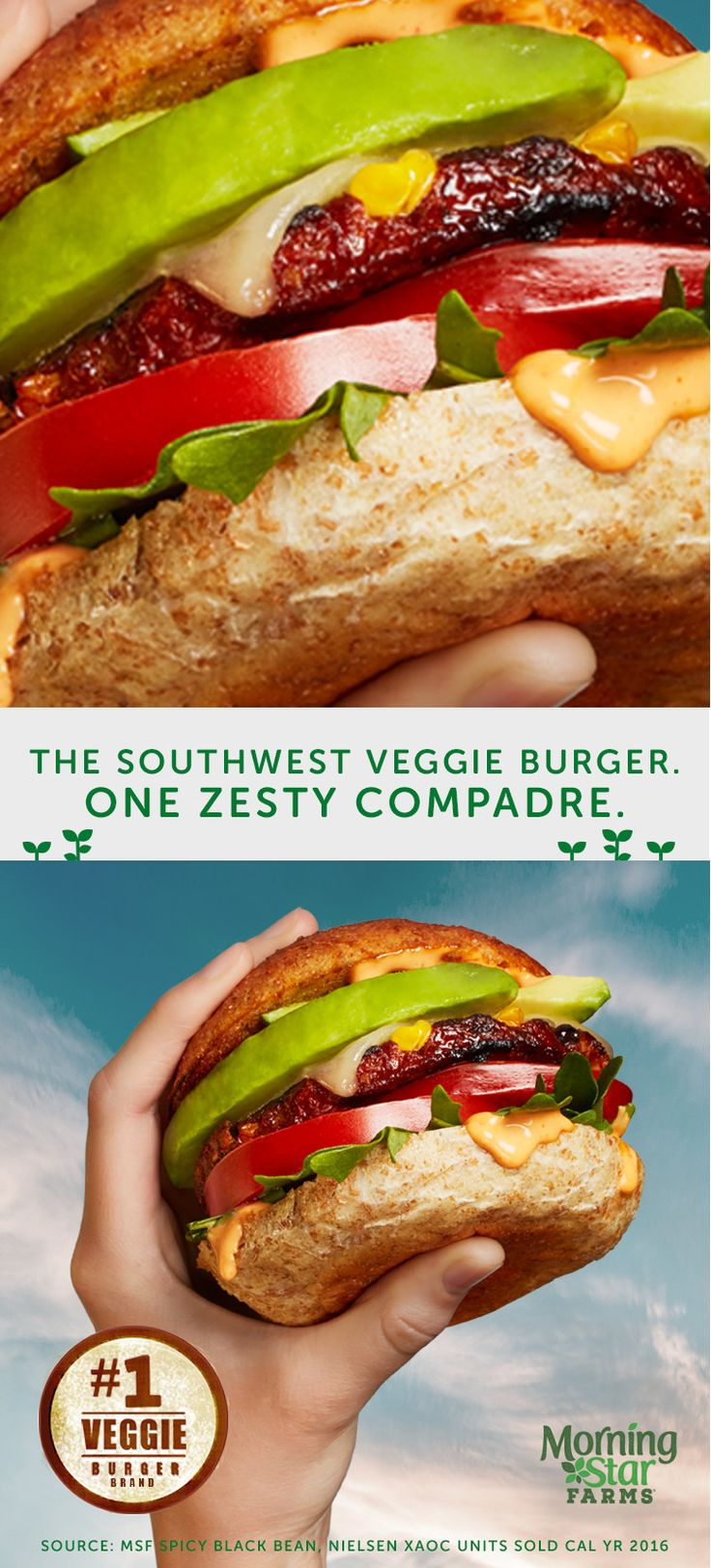 Taste the reason it's America's #1 Veggie Burger
