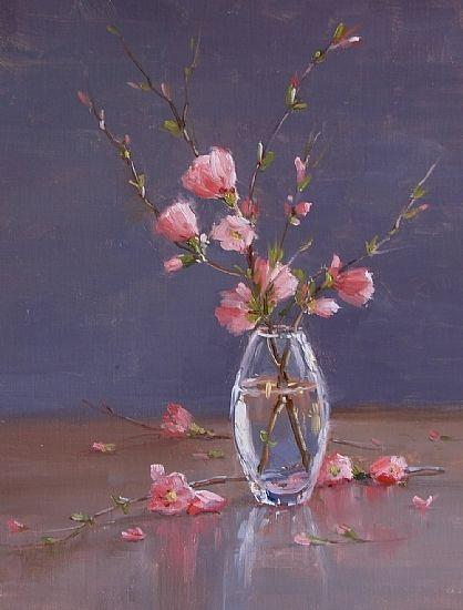 Harbinger of Spring by Kathleen Dunphy Oil ~ 14 x 11