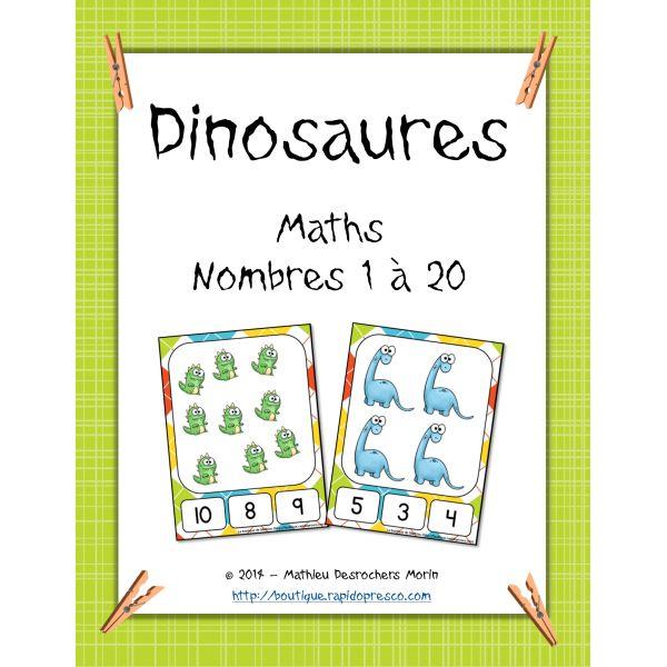 Jeu mathématique – Dinosaures (pinces à linge)