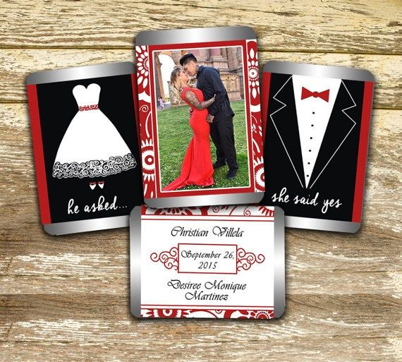Hershey Mini Candy Bar Wrappers - Wedding Wrappers, Red and White Wedding Favors, Personalized Wedding, Wedding Photo Wraps, Photo Favors by LittlePrintsOttawa on Etsy