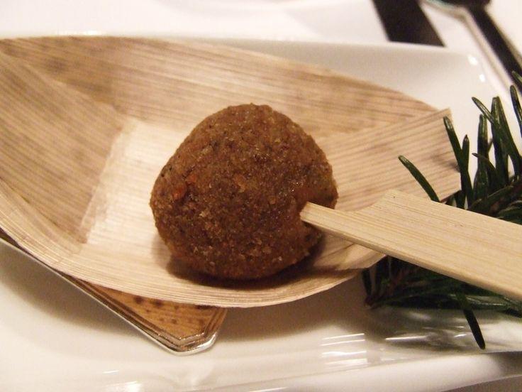 Cromesquis de foie gras à la noisette