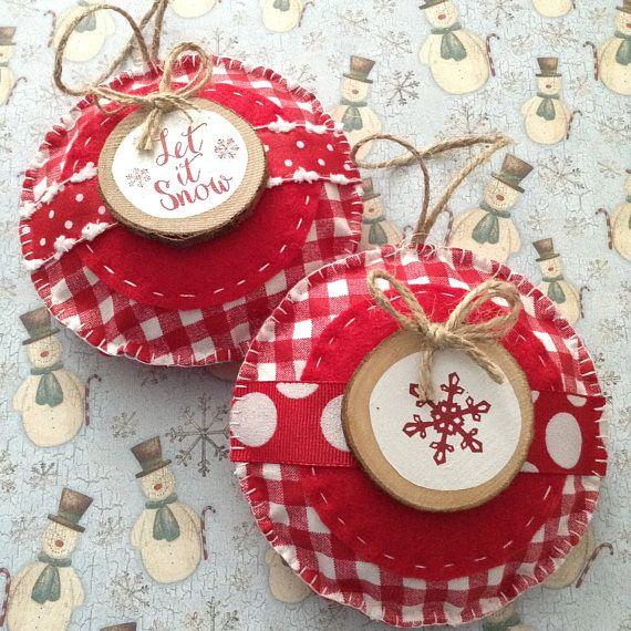 Fieltro Navidad  adornos de tela / ornamentos de árbol de