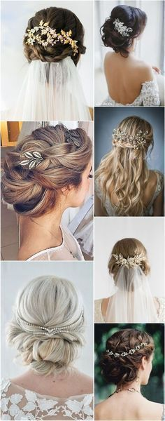 Wedding Hairstyles » Hair Comes the Bride – 20 Bridal Hair Accessories Get Style Advice for Any Budget ❤️ See more: http://www.weddinginclude.com/2017/03/hair-comes-the-bride-bridal-hair-accessories-get-style-advice-for-any-budget/ #weddingadvice #bridalaccessories #weddinghairstyles