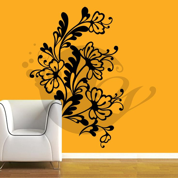 With this Flower Web Flowers Wall Sticker Decal you can decorate your walls in one of the most modern and elegant ways