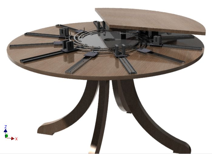 Charming Self Expanding Round Table   3D CAD Model   GrabCAD