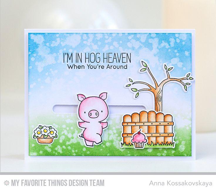 Hog Heaven stamp set & Die-namics, Surf & Turf Die-namics, Sweet Forest Friends stamp set & Die-namics - Anna Kossakovskaya #mftstamps