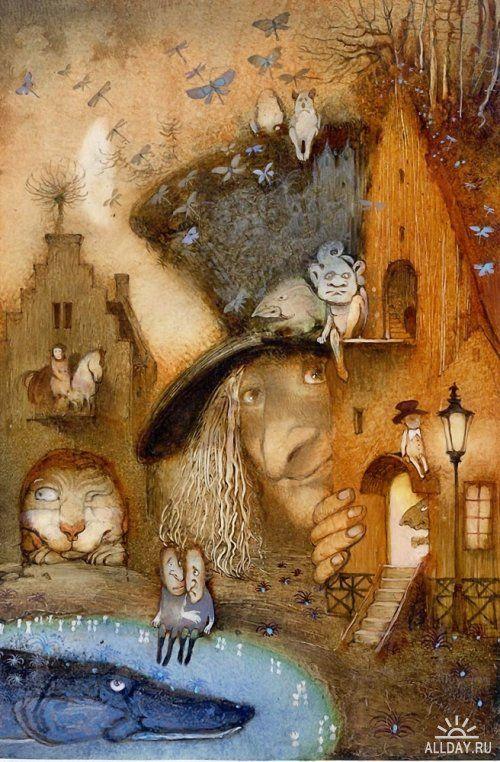 Иллюстрации: Сказочные иллюстрации, автор Кирилл Челушкин — НИИ Сказок и Жизни