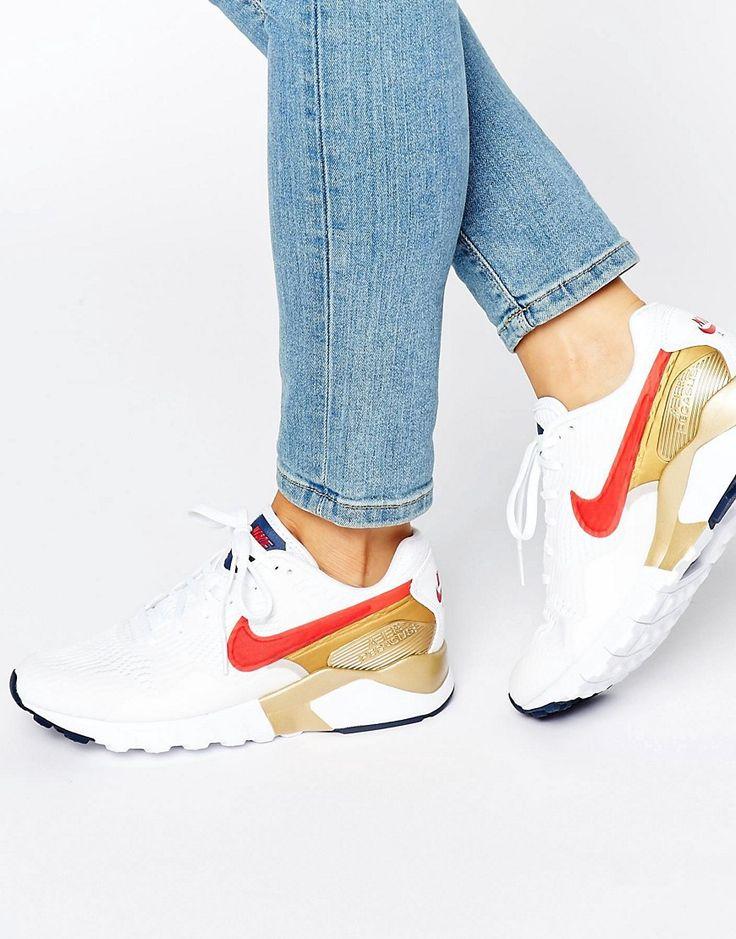 Image 1 - Nike - Air Pegasus - Baskets - Argent et or