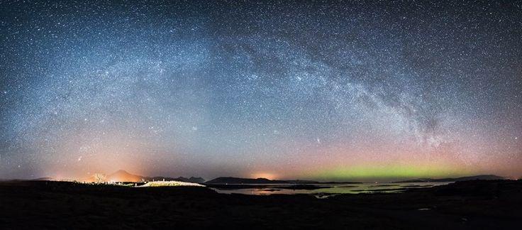 Milky Way and Aurora, Isle of Skye