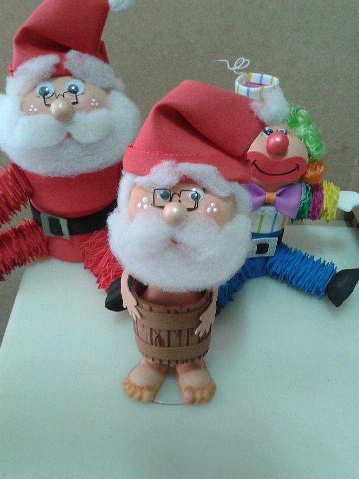Papai Noel no barril em eva 3 d