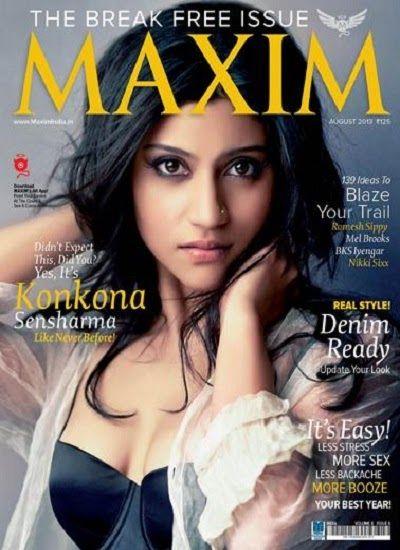 Konkona Sen Sharma Maxim Magazine Cover Page Photoshoot