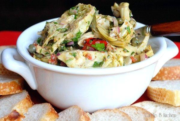Roasted artichoke antipasto salad ina garten circles Ina garten appetizer platter