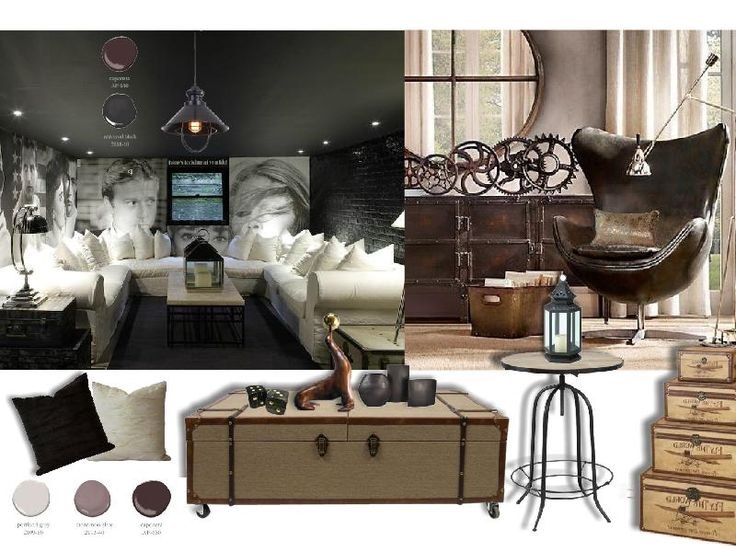 Sophisticated Industrial Interior Design Mood Board