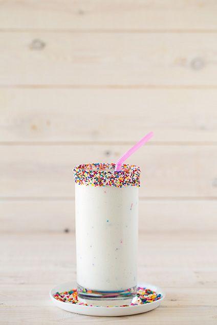 Cake Batter Milkshakes {3 Ingredient Recipe}