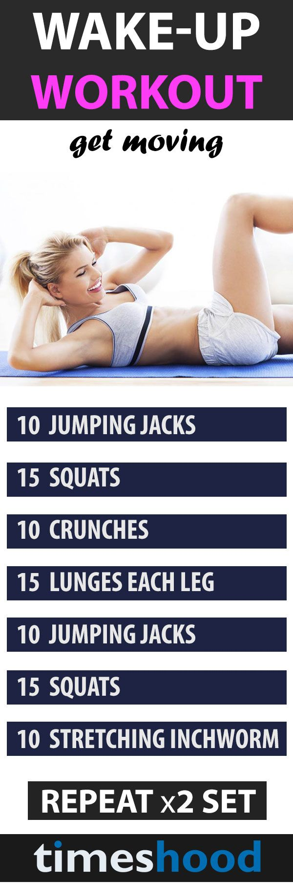 Tired of missing your workout and stressing over when to exercise? An early morning workout routine might be just what you need! Forget actually going to the gym. You can literally roll out of bed and do these 5 surprisingly effective moves in your PJs to get a jump on the morning.