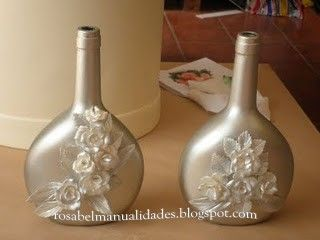 rosabel botellas de cristal decoradas