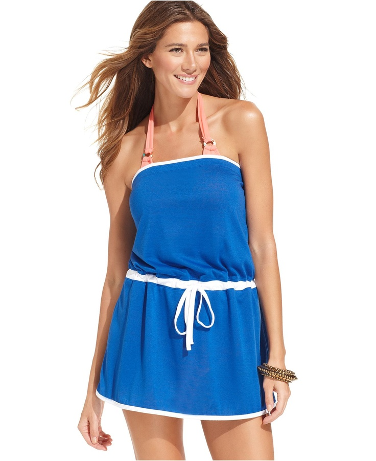 Anne Cole Cover Up, Strapless Bandeau Jersey-Knit Dress