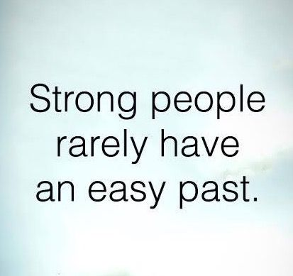 100% true. My past isn't a straight line.