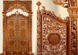 Изготовление иконостасов из дерева. Фото. Цены. Купить иконостас в СПб - Ставрос