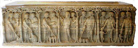 Sarcophage-Arles-mer-rouge - Sarcophage paléochrétien — Wikipédia