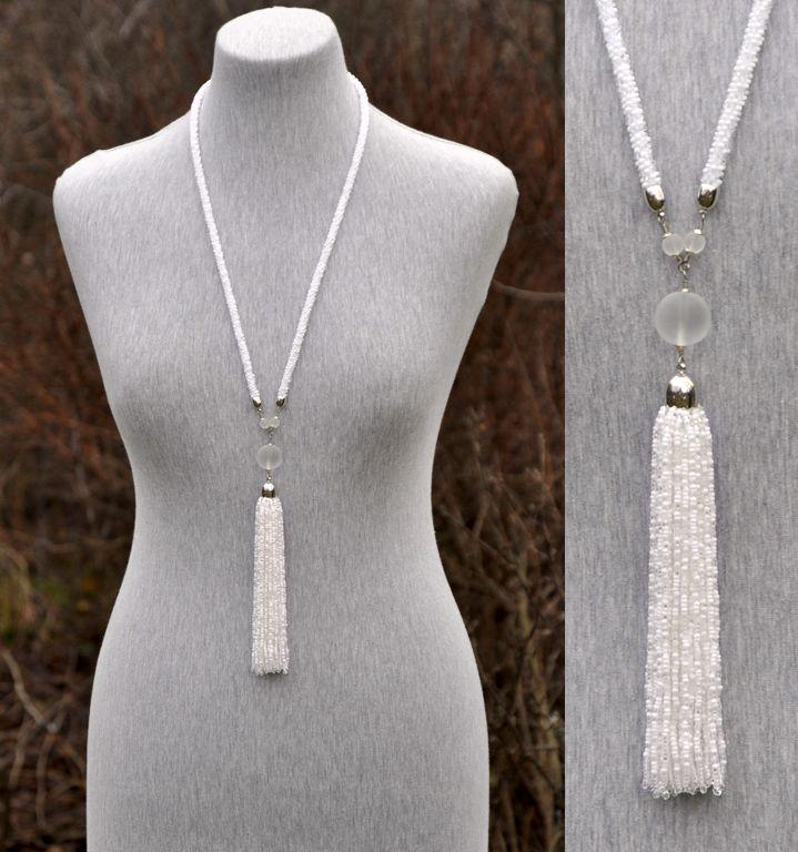 C. Tassle necklace white