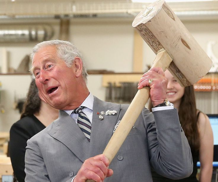 Nailed it! The first-in-line to the throne loves a good chuckle.