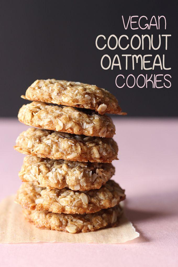 1 Bowl Coconut Oatmeal Cookies V Vegan Cookies Recipes Vegan Oatmeal Cookies Oatmeal Coconut Cookies