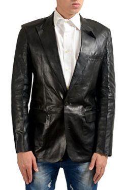 d9dbd0e554c9 Maison Margiela 14 Men s 100% Leather Black One Button Blazer US 40 IT 50