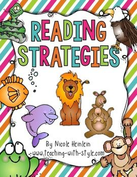 """Teach students to read using: Lips the Fish Stretchy Snake Flippy Dolphin Chunky Monkey Eagle Eye Skippy Frog Tryin' Lion Helpful Kangaroo  Included: *Color plus a black & white version of each strategy *Student bookmark *Parent letters to send home for each strategy  Visit my blog <a href=""""http://www.teaching-with-style.com"""" target=""""_blank"""">Teaching With Style</a> for more ideas, lessons, freebies, and giveaways!"""