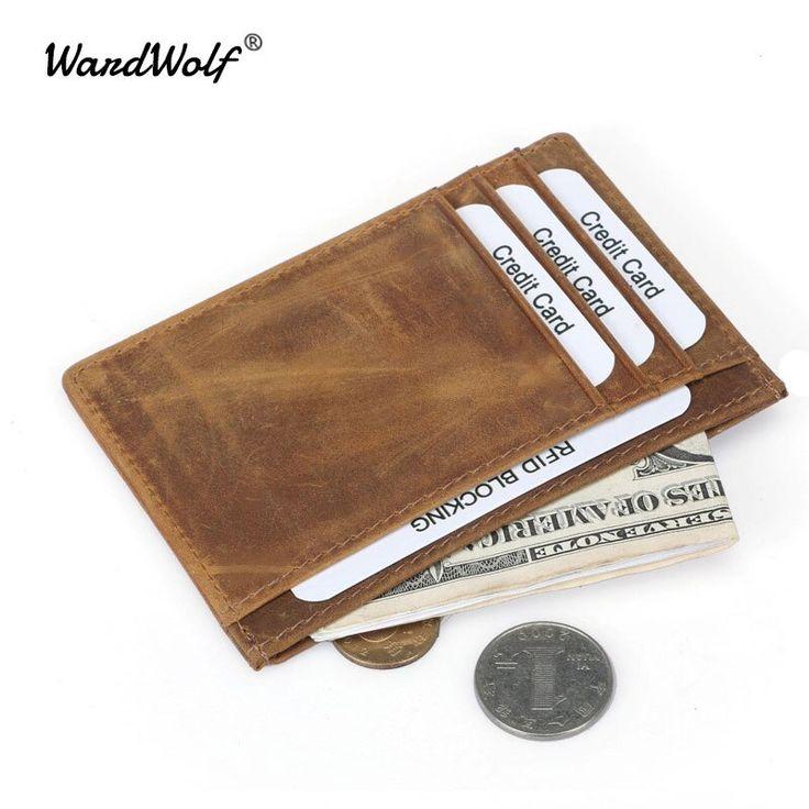 WardWolf Credit Card Holder Vintage Genuine Leather Men Card Wallet Card Holders…