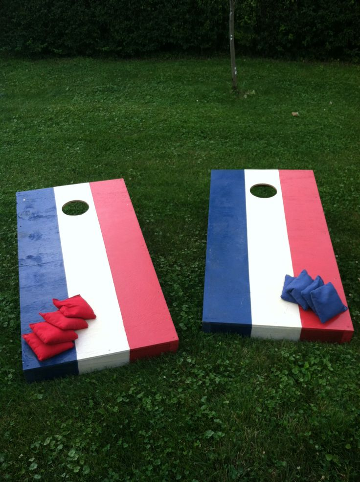 DIY Corn Hole Set and Bags