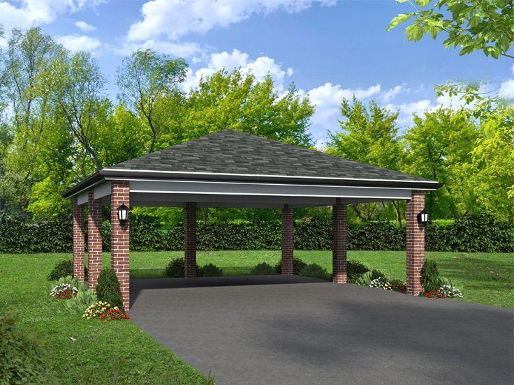 062g 0229 Carport Plan Pavilion Plans Carport Plans Garage Plan