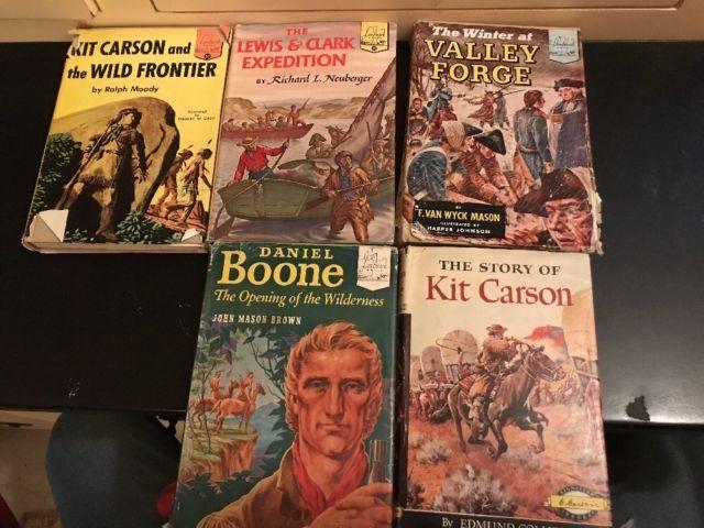 5 Landmark Books VALLEY FORGE, Daniel Boone,Kit Carson,Lewis & Clark, Kit Carson | eBay