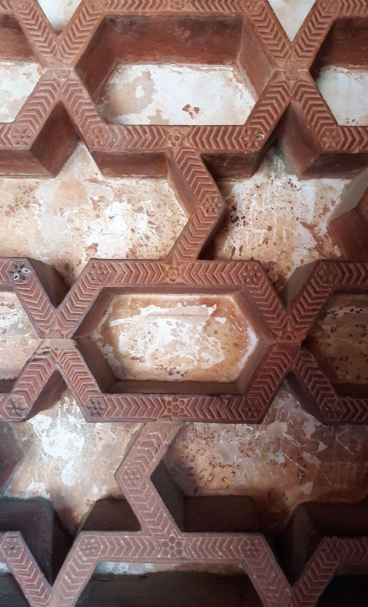 Architectural details in pink sandstone at Fatehpur Sikri, Agra, India. katiesargentdesign.com