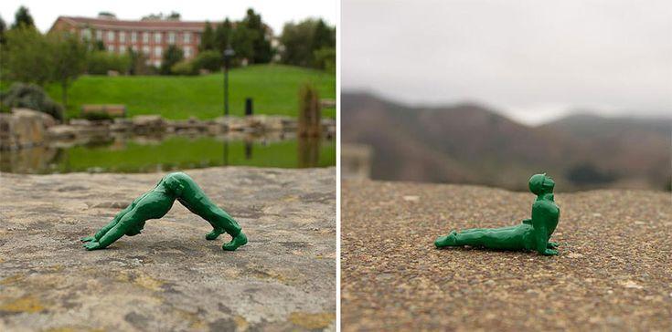 Et si les petits soldats en jouets faisaient plutôt du yoga? Sur BoredPanda