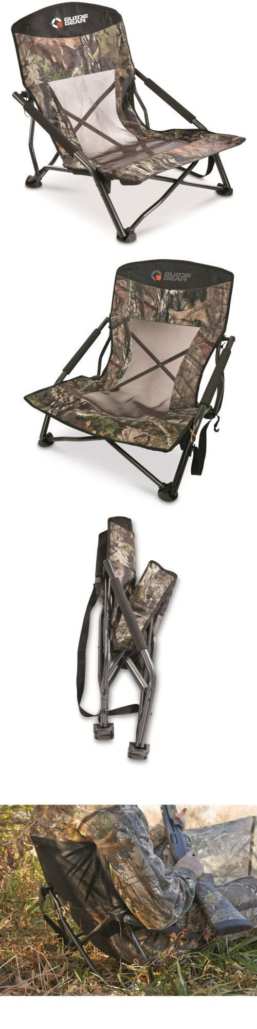 Bow hunting chair - Seats And Chairs 52507 Hunting Blind Gear Camo Deluxe Turkey Gobbler Collapsible Game Chair 300