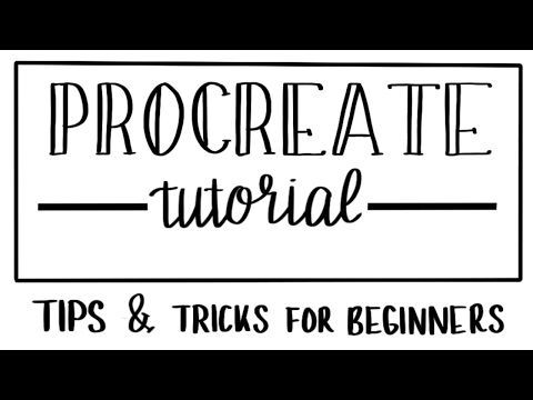 Procreate's 10 Best Features (draw straight lines, paint bucket tool, gradients and more) - YouTube