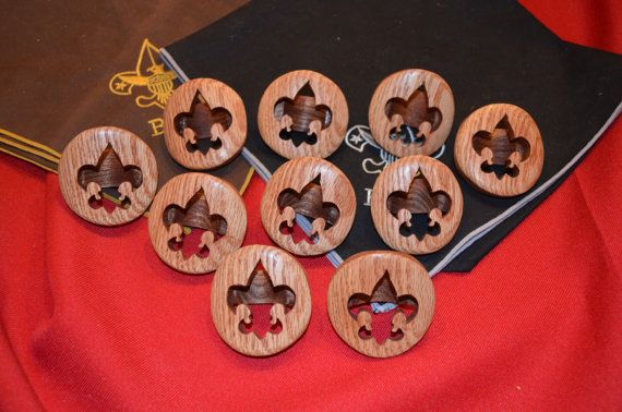 A custom made solid wood neckerchief slide that can be used by Boy Scouts and…