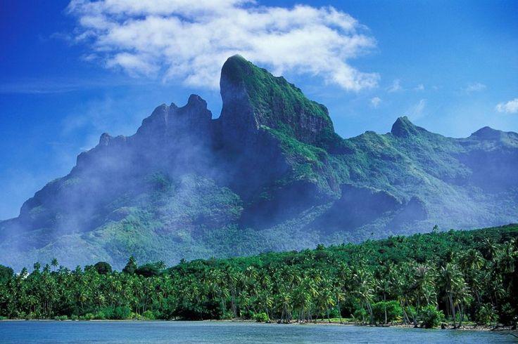 Скалистые вершины горы Отеману, Bora Bora