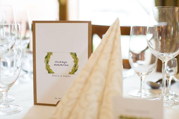 Dodatki ślubne - menu