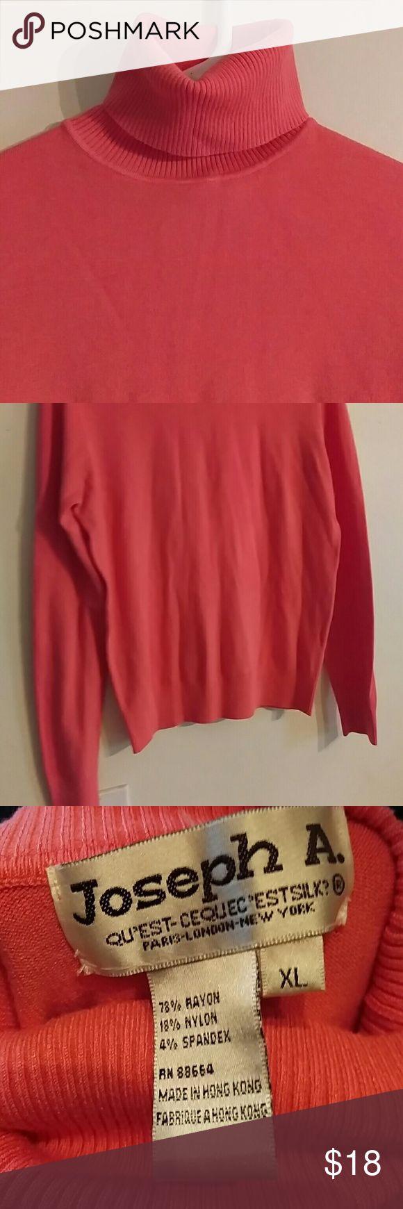 ✨Peach women's turtleneck Peach long-sleeve women's XL turtleneck Sweaters Cowl & Turtlenecks
