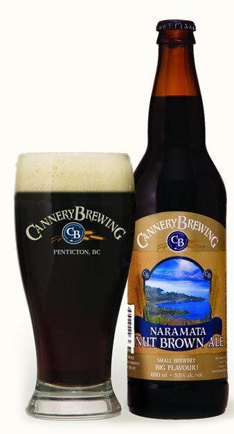 Cannery Brewing Naramata Nut Brown Ale ~ my man's favourite of all time.