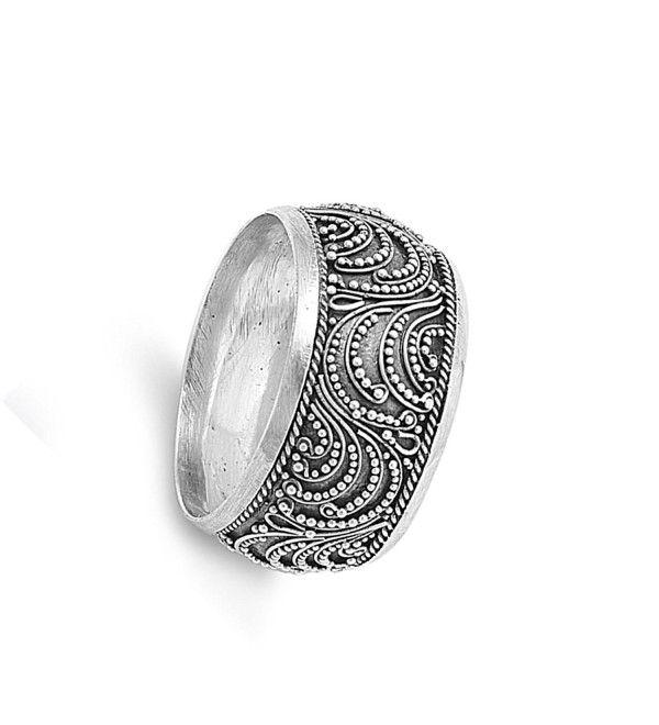 Plain 925 Sterling Silver Bali Swirl Design Ring Jewellery
